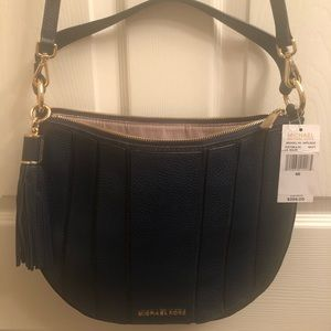 MK Brooklyn Appliqué Navy Large Crossbody